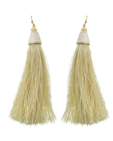 Ivory Tassel Earring Set