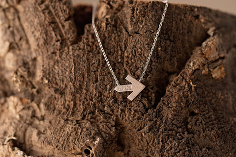Silver Arrrow Pelotonia Necklace