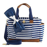 Navy Stripe Diaper Bag
