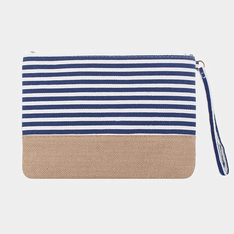 Navy Striped Bag