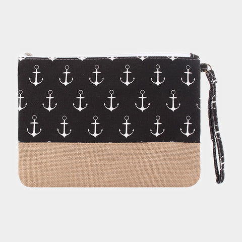 Black Anchor Clutch