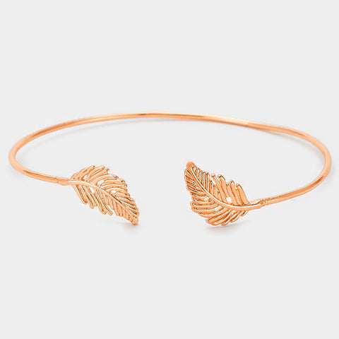 Rose Golf Leaf Cuff Bracelet
