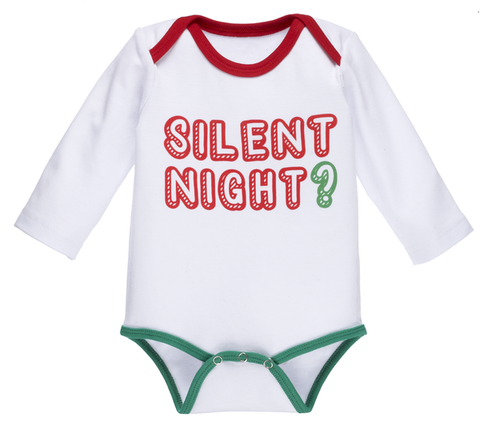 Silent Night Onesie 0-6m
