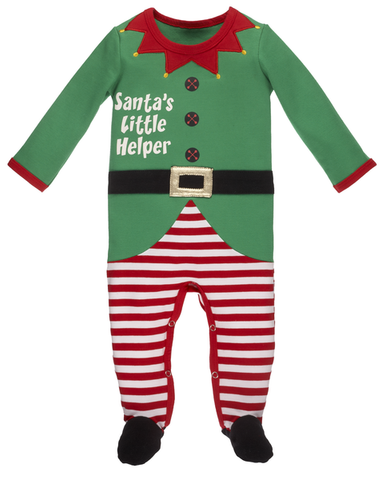 Santa's Little Helper Onesie 3-9months