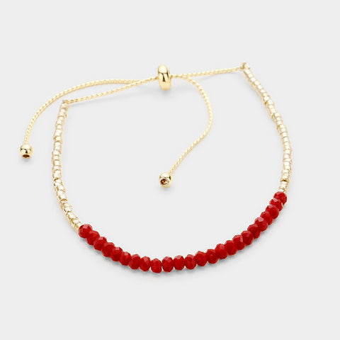 Red and Gold Cinch Bracelet