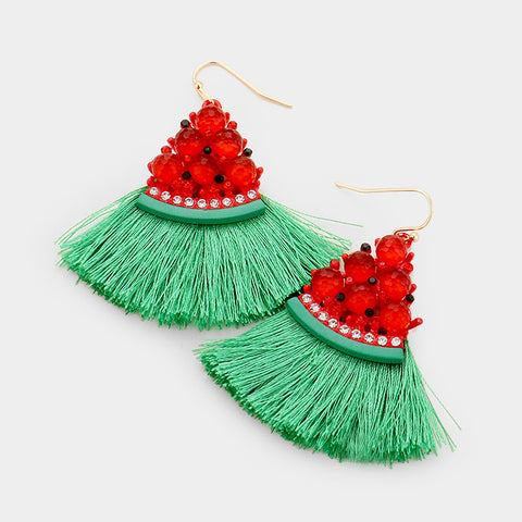 Crystal Watermelon Earrings