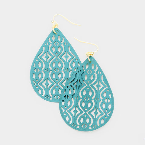 Filigree Teal Earrings