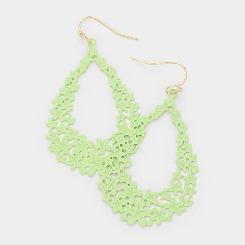 Mint Filigree Dangle Earrings