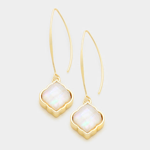 Mother of Pearl Gold Earrings