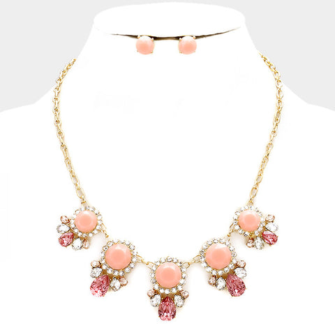 Peach / Pink Necklace Set