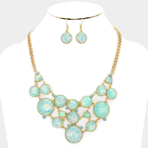 Aqua Bauble Necklace Set