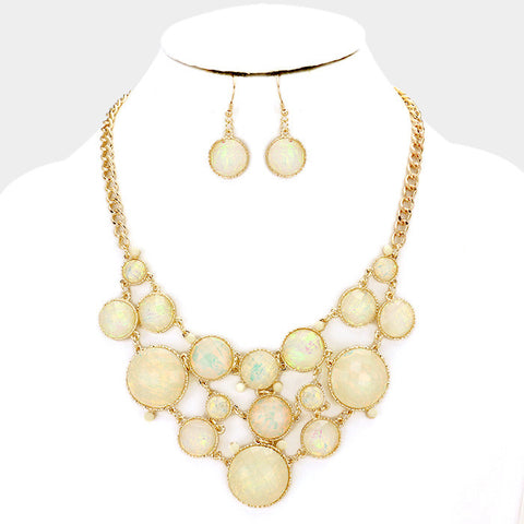 Ivory Bauble Necklace Set