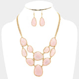 Light Rose Necklace Set
