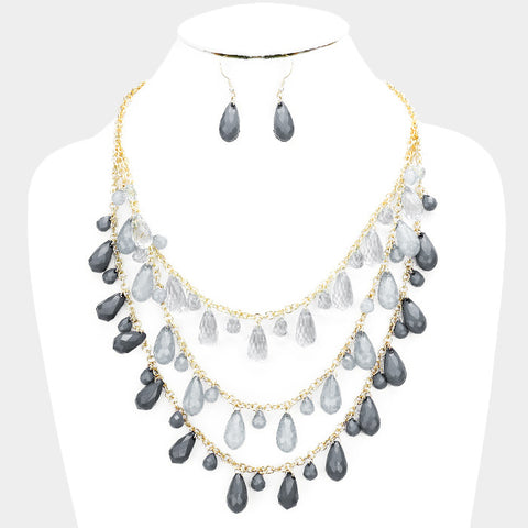Gray Necklace Set