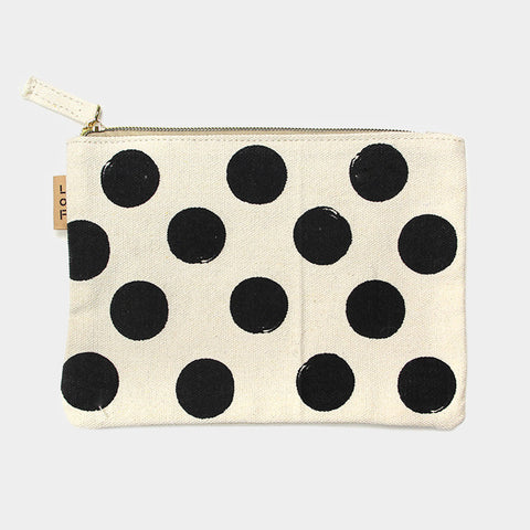 Polka Dot Cotton Pouch Bag
