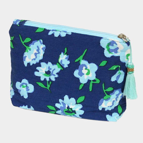 Flower and Leaf Pouch Bag