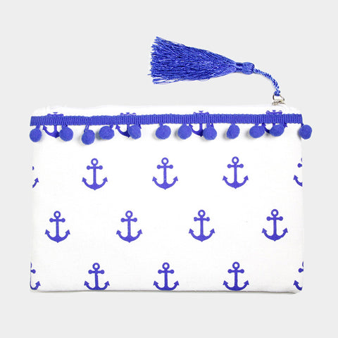 Blue Anchor Make Up Bag