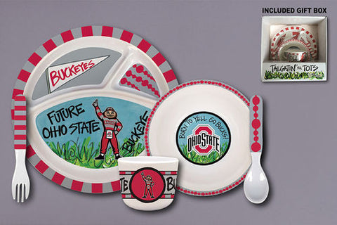 Ohio State 5 PC Place Setting
