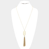 Ivory Tassel Pendant Necklace