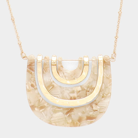 Ivory Geometric Necklace