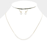 White Cube Necklace Set