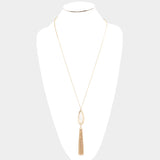 Gold Teardrop Pendant Necklace