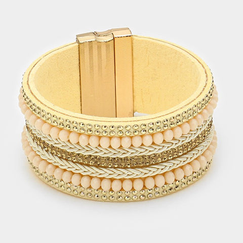 Ivory and gold Magnetic Bracelet