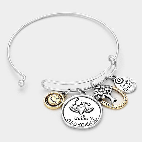 "Silver Tree of Life Bracelet: ""Live in the Moment"""