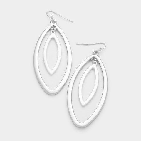 Matte Silver Hoop Earrings