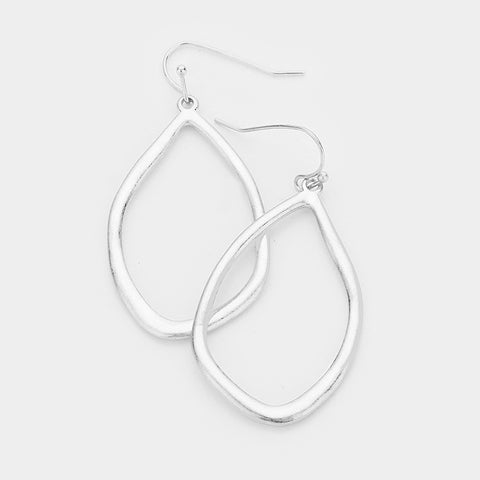 Silver Abstract Earrings