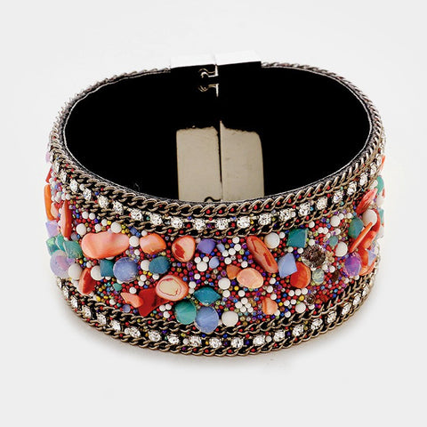 Multi Color Cluster Bracelet