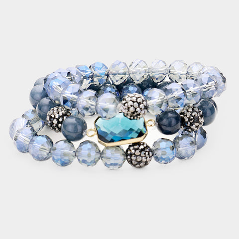 Blue Stretchable Bracelets