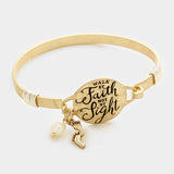 Walk by Faith Charm Bracelet