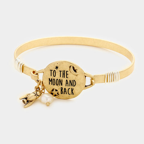 Gold to the Moon and Back Charm Bracelet