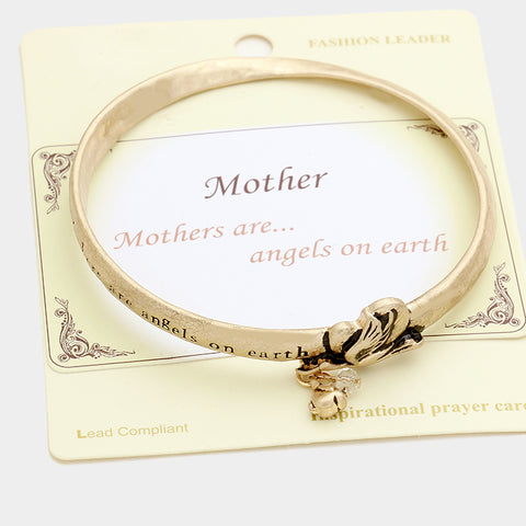 Mothers are angels on earth bracelet