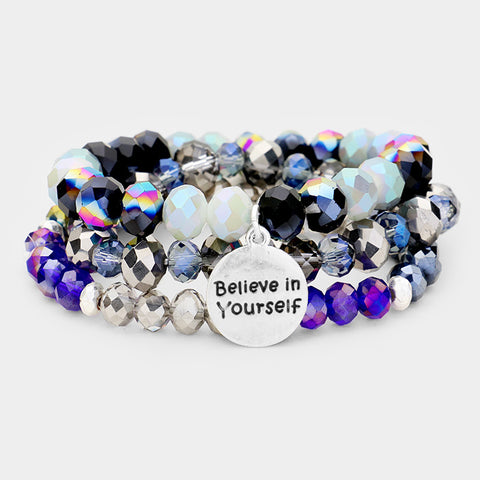 Blue Believe in Yourself Bracelet