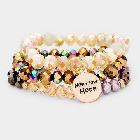Brown Never Lose Hope Bracelet
