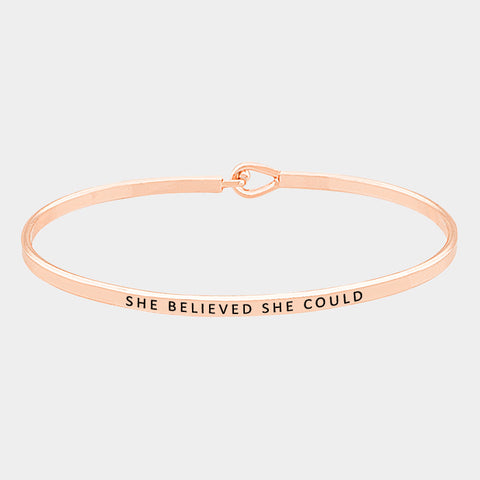 Rose Gold She Believed She Could