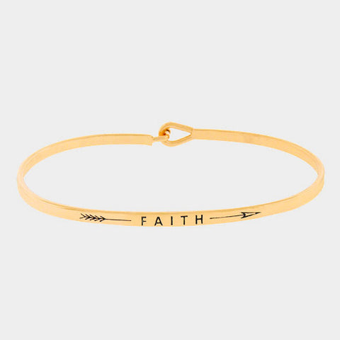 "Gold"" Faith"" Bracelet"