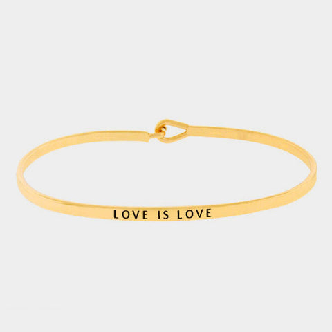"Gold ""Love is Love"" Bracelet"