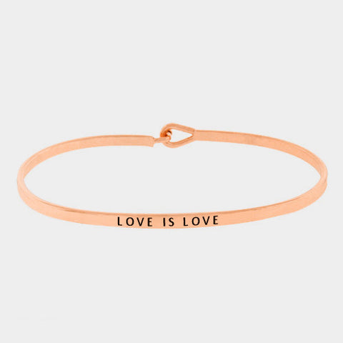 "Rose Gold ""Love Is Love"" Bracelet"