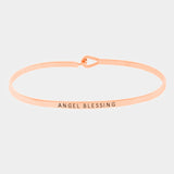 Angel Blessing Bracelet - Rose Gold