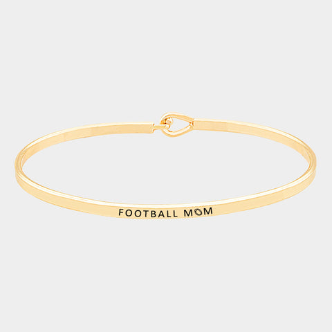 Gold Football Mom Bracelets