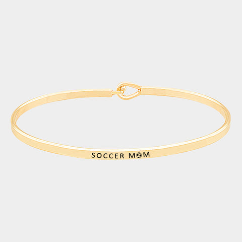 Soccer Mom - Gold Bracelet