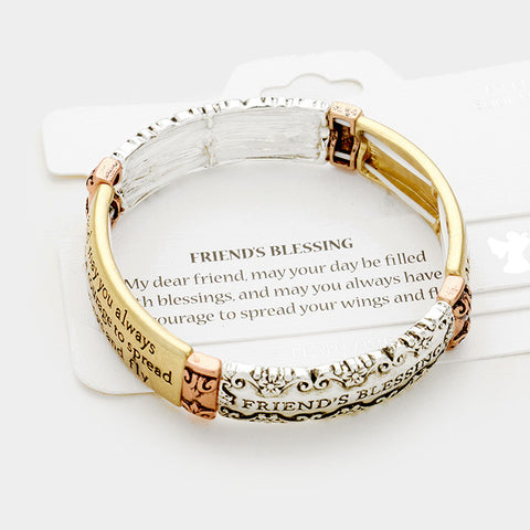 Tri Tone Friends Blessing Bracelet