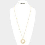 Ivory Pinwheel Pendant Necklace