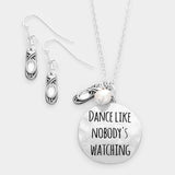 Dance Like Nobody's Watching Pendant Necklace