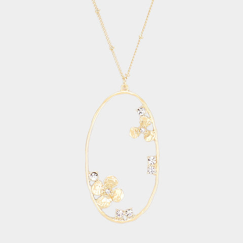 Flower Gold Pendant Necklace