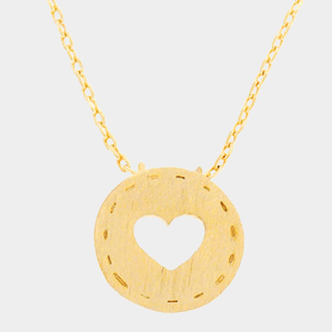Gold Cut Out Heart Necklace