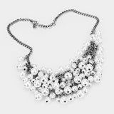 Pearl Cluster Necklace Set